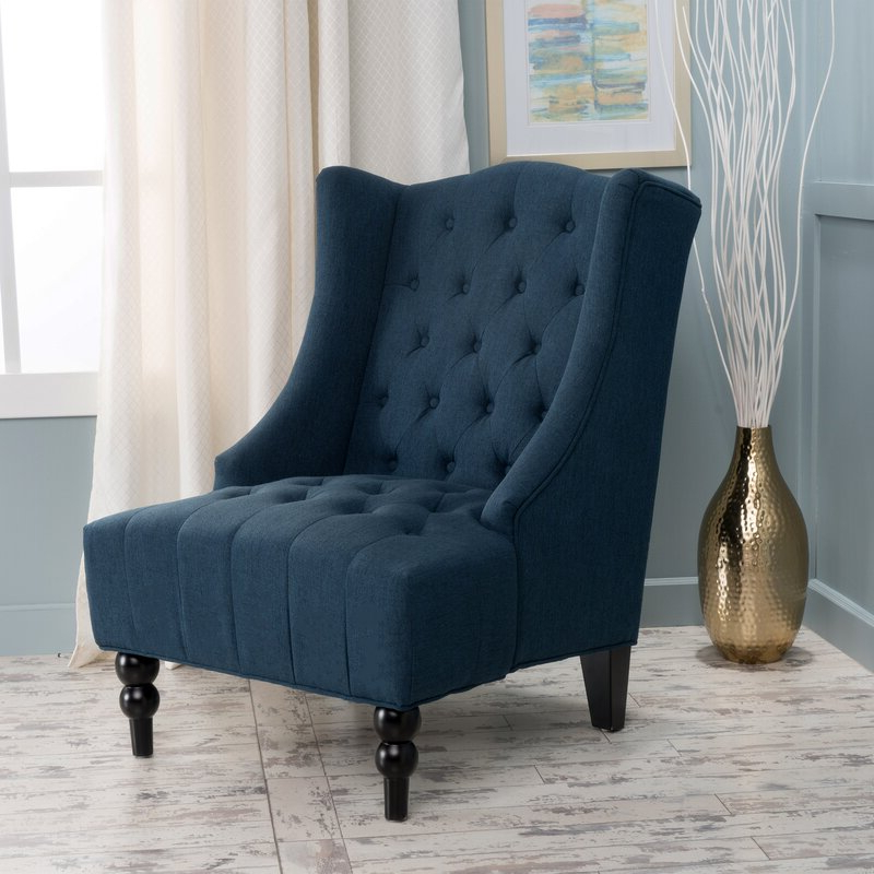 """Contreras 21"""" Wingback Chair In Allis Tufted Polyester Blend Wingback Chairs (View 18 of 20)"""