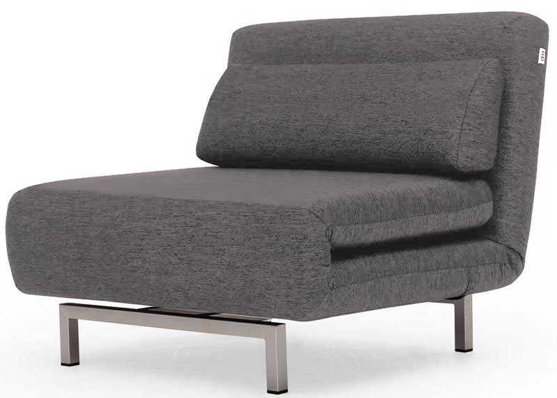 Convertible Charcoal Gray Fabric Chair Bed Lk06ido In Bolen Convertible Chairs (View 10 of 20)
