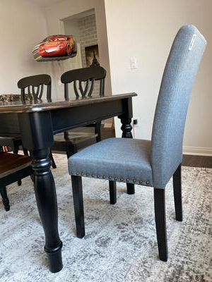 Costway Set Of 2 Fabric Dining Chairs Upholstered With Nailhead Trim Regarding Danny Barrel Chairs (set Of 2) (View 14 of 20)