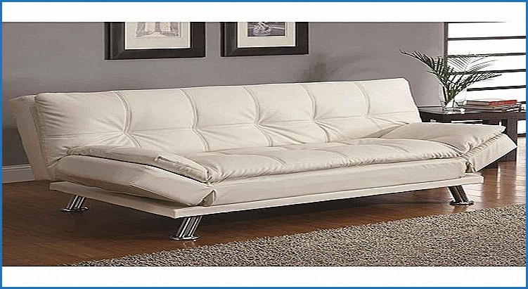 Countermoon | Contemporary Sofa Bed, White Leather Sofas For Perz Tufted Faux Leather Convertible Chairs (View 18 of 20)