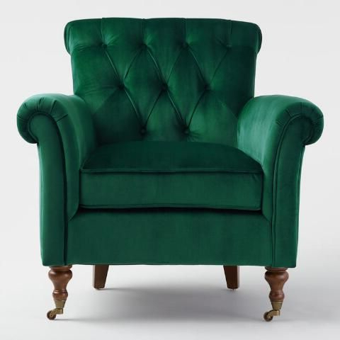Cozy Chair In A Bold Color | Green Armchair, Green Chair Throughout Live It Cozy Armchairs (View 16 of 20)