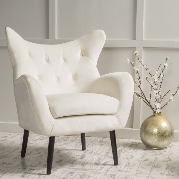 Cream Wingback Chair With Regard To Waterton Wingback Chairs (View 13 of 20)