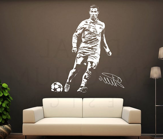 Cristiano Ronaldo Portugal Wall Decal Vinyl Sticker For Room With Ronaldo Polyester Armchairs (View 19 of 20)