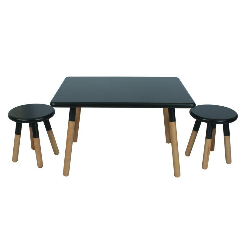 Dansby Kids 3 Piece Writing Table And Stool Set & Reviews Pertaining To Ansby Barrel Chairs (View 19 of 20)