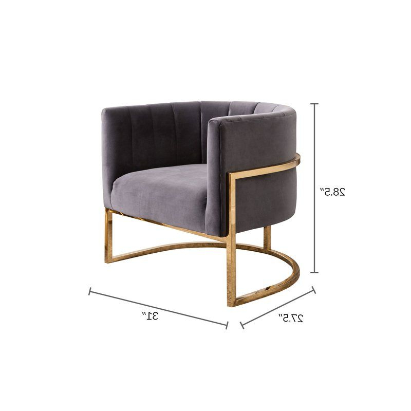 Daulton Barrel Chair | Furniture, Furniture Design Modern Regarding Daulton Velvet Side Chairs (View 11 of 20)