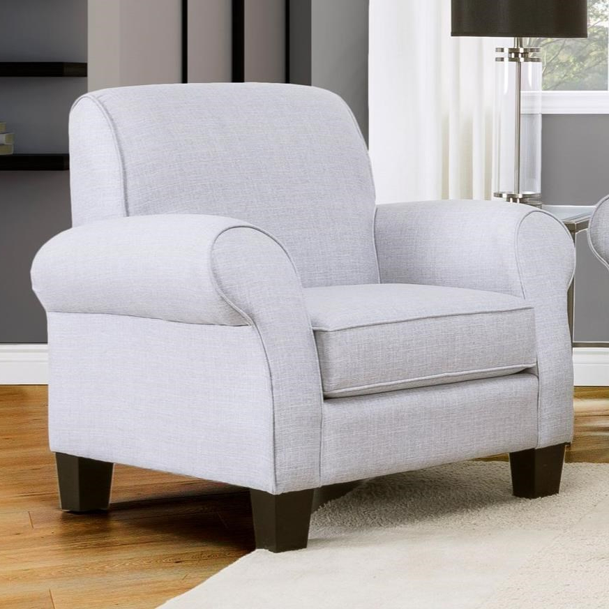 Decor Rest 2025 Casual Upholstered Chair With Rolled Arms For Aime Upholstered Parsons Chairs In Beige (View 15 of 20)