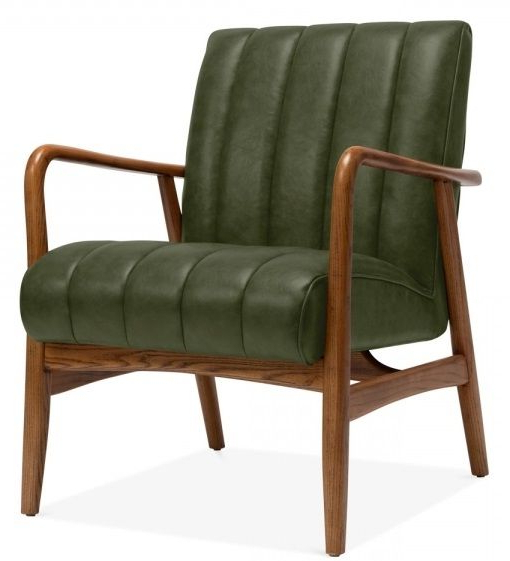 Designer Lounge Chair – Feva Green – Online Reality Pertaining To Jill Faux Leather Armchairs (View 9 of 20)