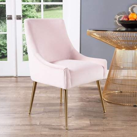 Devon & Claire Roxy Velvet Dining Chair, Blush Pink Pertaining To Grinnell Silky Velvet Papasan Chairs (View 18 of 20)