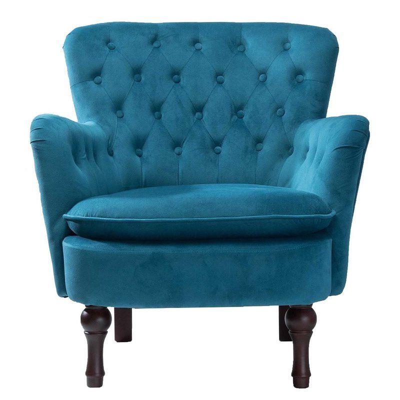 Didonato Velvet Tufted Upholstered Armchair   Armchair Intended For Didonato Tufted Velvet Armchairs (View 7 of 20)