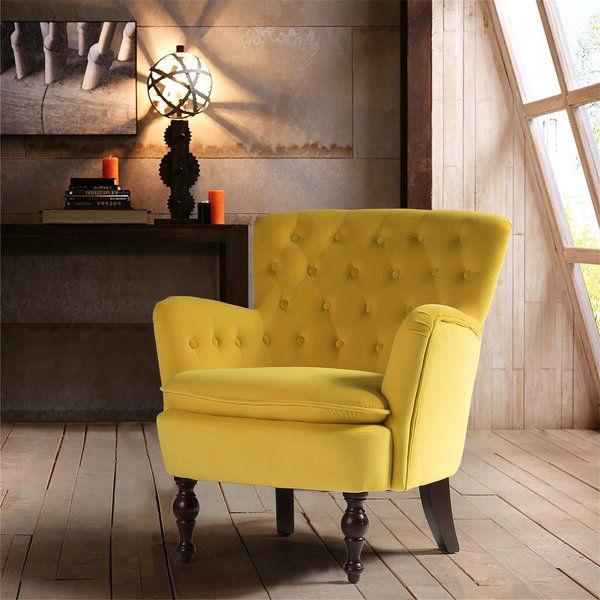 Didonato Velvet Tufted Upholstered Armchair   Furniture Inside Didonato Tufted Velvet Armchairs (View 17 of 20)