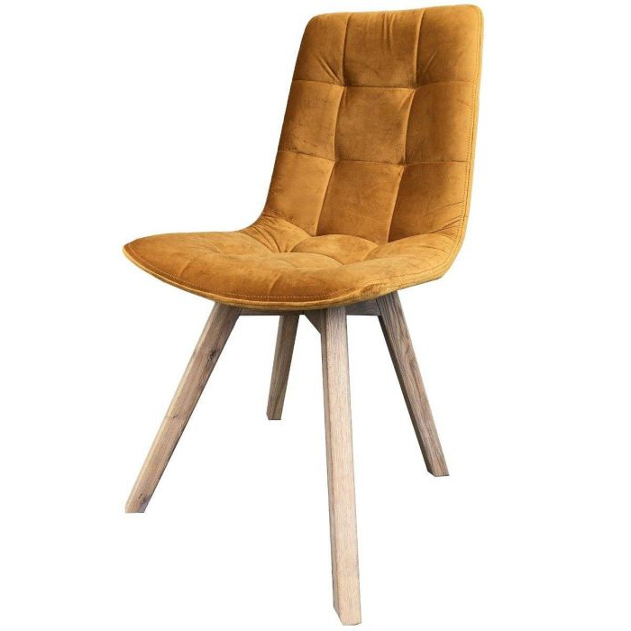 Dining Chair Atlanta With Grey Wooden Leg In Carlton Wood Leg Upholstered Dining Chairs (View 6 of 20)