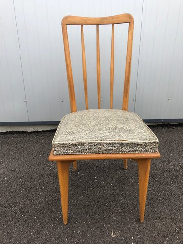 Dining Chairscharles Ramos, 1950s, Set Of 5 Intended For Aime Upholstered Parsons Chairs In Beige (View 14 of 20)
