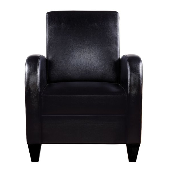 Distinction Leather Sleek Spring Chair Pertaining To Annegret Faux Leather Barrel Chair And Ottoman Sets (View 11 of 20)