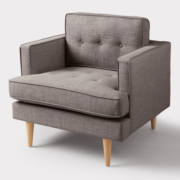 Dolphin Gray Woven Apel Armchair – Fabricworld Market Intended For Bernardston Armchairs (View 2 of 20)