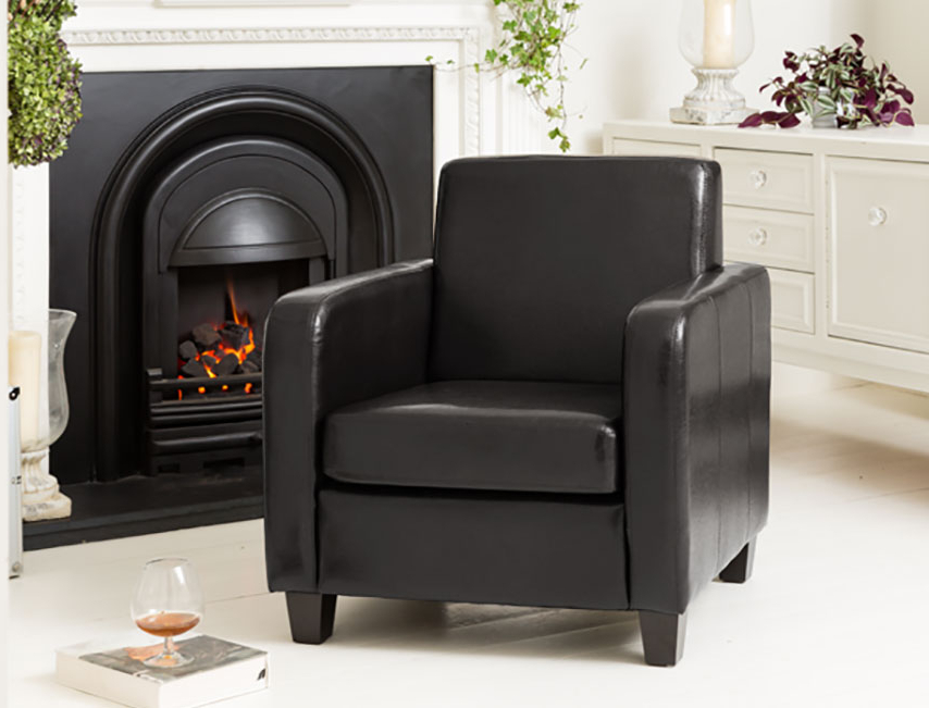 Dorchester Armchair Black Throughout Dorcaster Barrel Chairs (View 17 of 20)