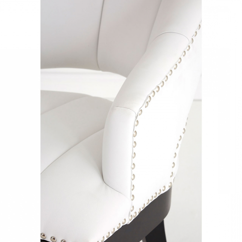 Dorchester White Faux Leather Chair | Living Furniture | Fads With Regard To Dorcaster Barrel Chairs (View 19 of 20)