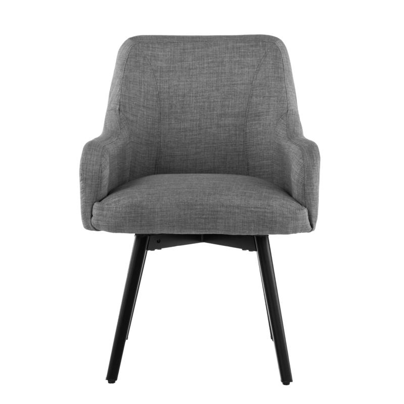 Draco Pair Of Upholstered Swivel Arm Chairs – Light Gray Inside Draco Armchairs (View 10 of 20)