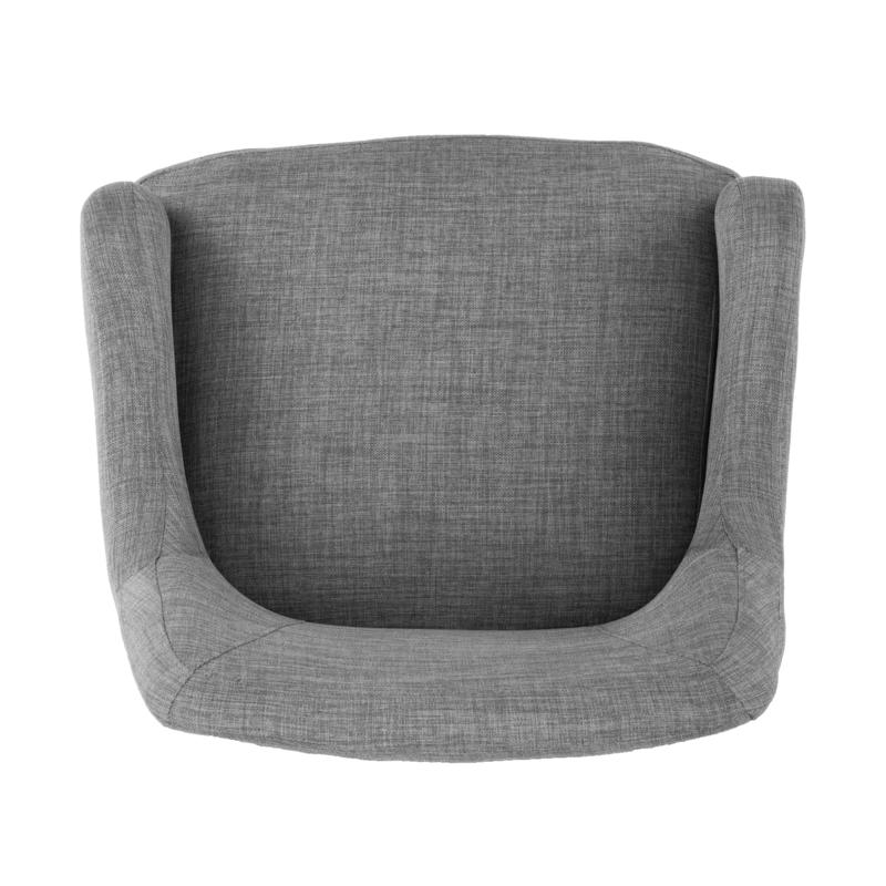 Draco Pair Of Upholstered Swivel Arm Chairs – Light Gray Pertaining To Draco Armchairs (View 16 of 20)