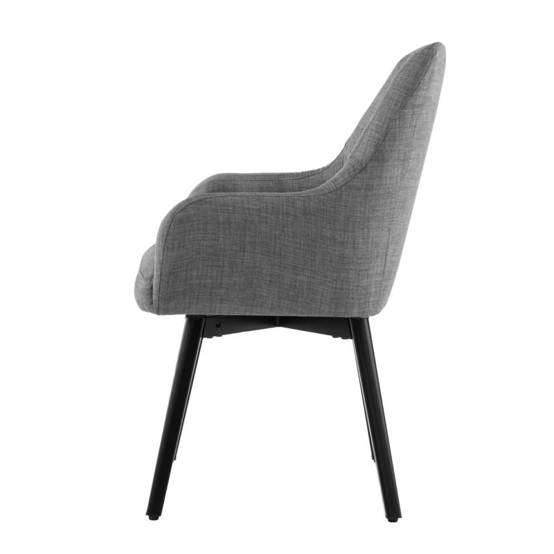 Draco Pair Of Upholstered Swivel Arm Chairs – Light Gray With Regard To Draco Armchairs (View 8 of 20)