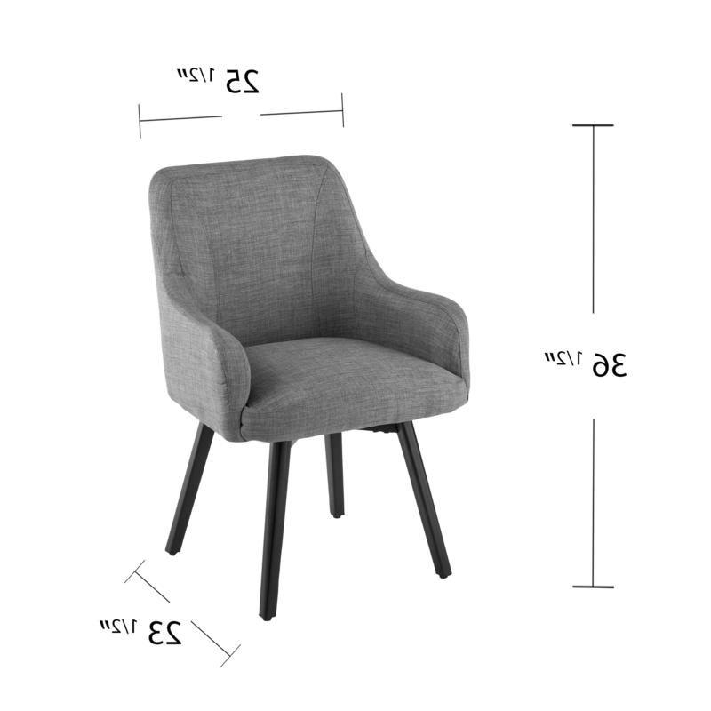 Draco Pair Of Upholstered Swivel Arm Chairs – Light Gray With Regard To Draco Armchairs (View 14 of 20)