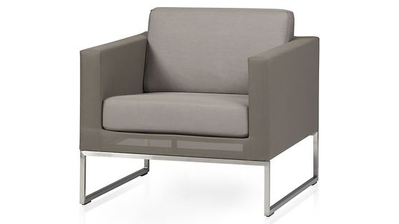 Dune Taupe Lounge Chair With Sunbrella Cushions + Reviews For Navin Barrel Chairs (View 14 of 20)