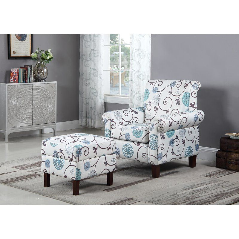 Dungannon Armchair And Ottoman & Reviews | Joss & Main Inside Abbottsmoor Barrel Chair And Ottoman Sets (View 14 of 20)