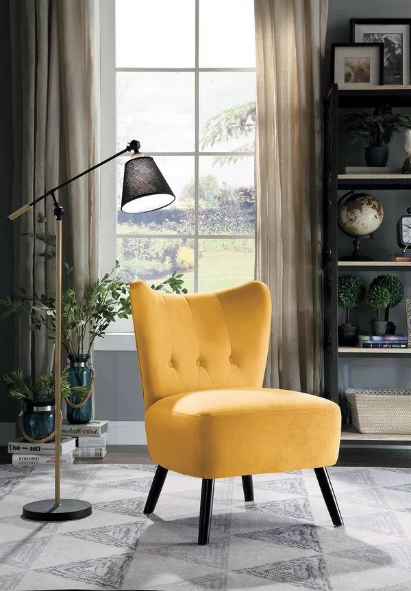 Easterling Velvet Slipper Chair | Velvet Accent Chair With Regard To Easterling Velvet Slipper Chairs (View 2 of 20)