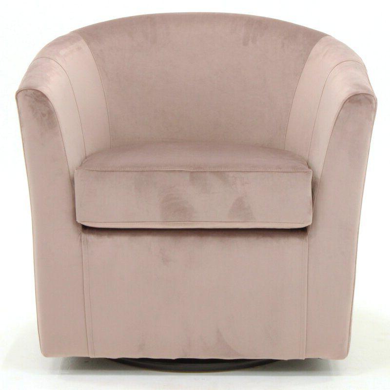 Ebern Designs Molinari Swivel Barrel Chair & Reviews In Molinari Swivel Barrel Chairs (View 4 of 20)