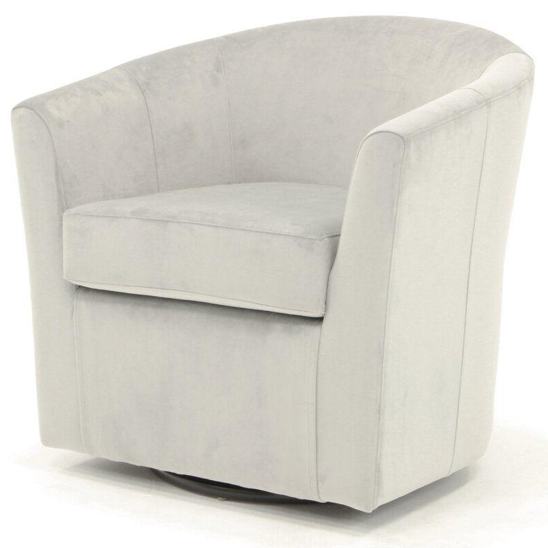 Ebern Designs Molinari Swivel Barrel Chair & Reviews With Molinari Swivel Barrel Chairs (View 5 of 20)