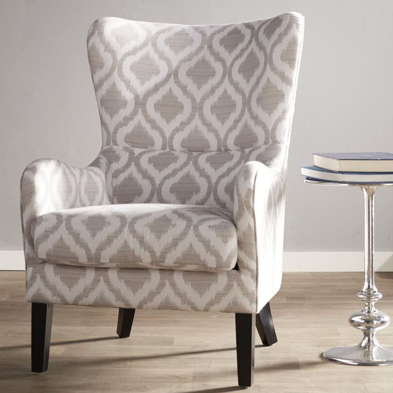 Elmer Wingback Chair With Chagnon Wingback Chairs (View 17 of 20)