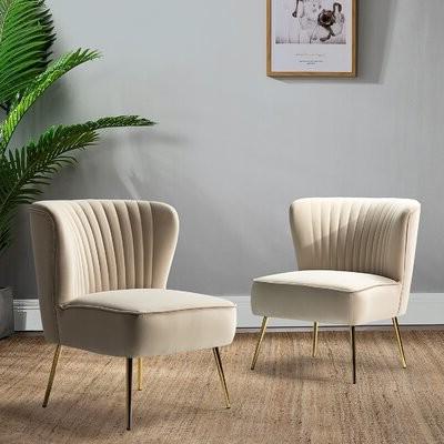 Erasmus Side Chair Fabric: Yellow Velvet Within Erasmus Velvet Side Chairs (set Of 2) (View 15 of 20)