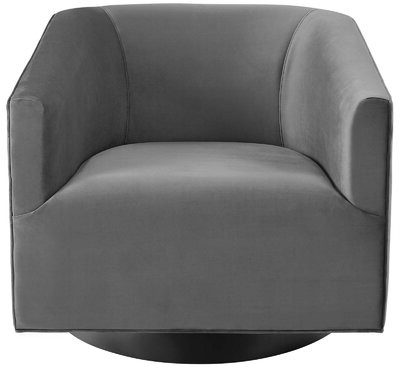 Estabrook Swivel Armchair Upholstery Color: Gray Within Blaithin Simple Single Barrel Chairs (View 13 of 20)