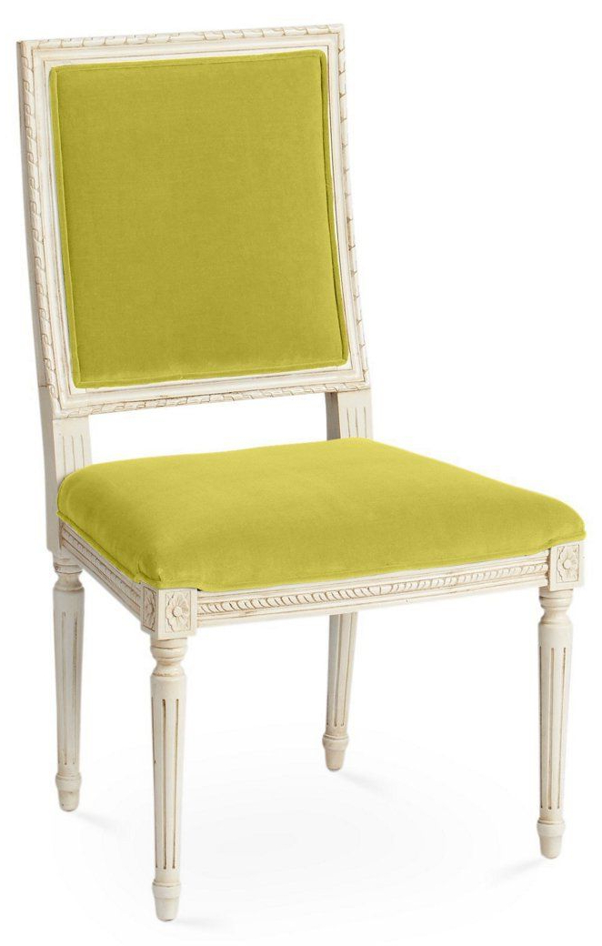 Exeter Side Chair, Chartreuse Velvet – Furniture – Sale Within Exeter Side Chairs (View 4 of 20)