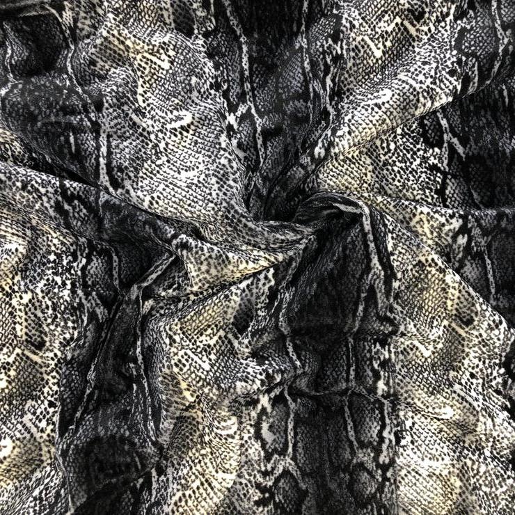 Fabric Snakeskin Foil Print Poly Lycra Crafts Quatrok (View 20 of 20)