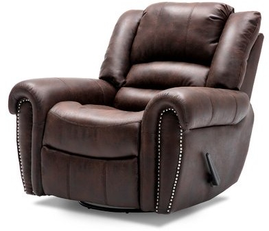 Felicien Faux Leather Manual Swivel Recliner Fabric: Tan With Regard To Brookhhurst Avina Armchairs (View 10 of 20)