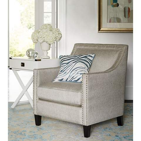 Flynn Heirloom Gray Upholstered Armchair – #6n559 | Lamps For Haleigh Armchairs (View 15 of 20)