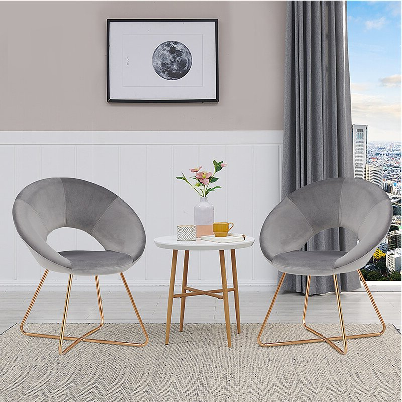 """Focht 20"""" W Velvet Armchair With Focht Armchairs (View 2 of 20)"""