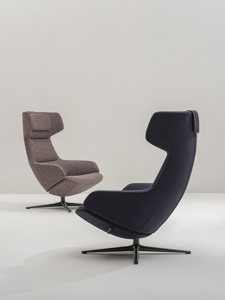 Four Leg Designer Lounge Chair Aston Club Collection – Arper With Regard To Montenegro Faux Leather Club Chairs (View 14 of 20)