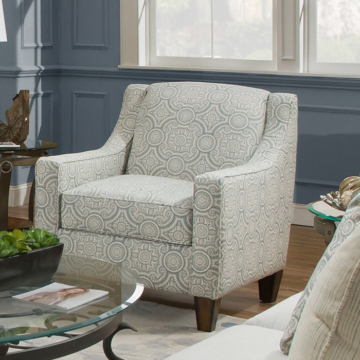 Franklin Brinton Accent Chair In Fable Dove Pertaining To Riverside Drive Barrel Chair And Ottoman Sets (View 19 of 20)