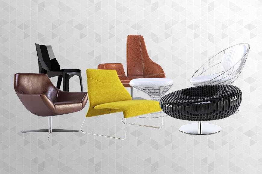 Free 3d Models – Armchairs V2 – Viz People Inside Popel Armchairs (View 9 of 20)