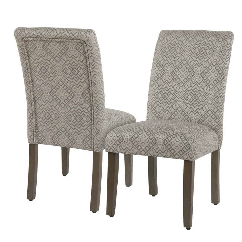 Freetown Upholstered Dining Chair Pertaining To Aime Upholstered Parsons Chairs In Beige (View 6 of 20)