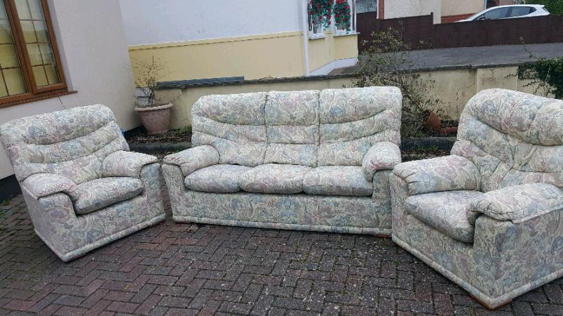 G Plan 3 Piece Suite In Excellent Condition | In Poole, Dorset | Gumtree Regarding Wainfleet Armchairs (View 18 of 20)
