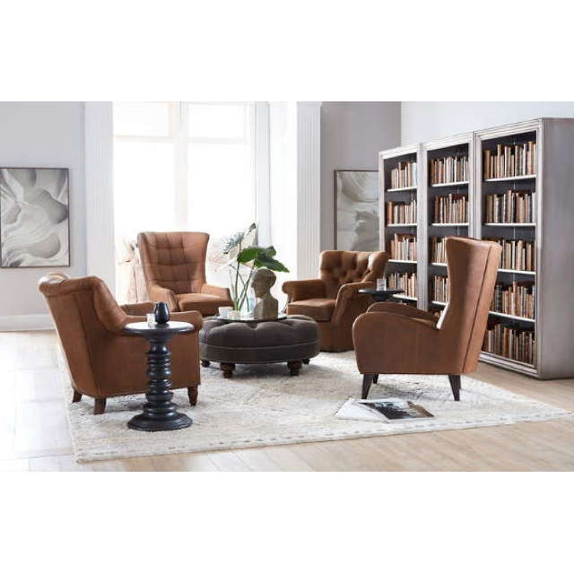 Gallin Leather Chairbradington Young Regarding Gallin Wingback Chairs (View 7 of 20)