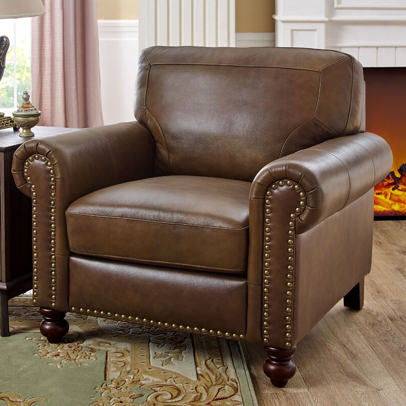 """Garr 41"""" W Leather Match Armchair In Cohutta Armchairs (View 5 of 20)"""