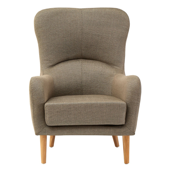 Giausar Fabric Upholstered Armchair In Mink In Ronaldo Polyester Armchairs (View 15 of 20)