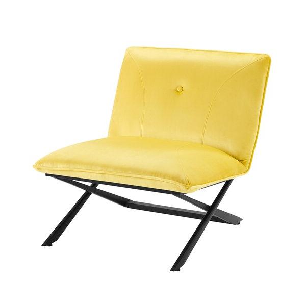 """Gilyard 28"""" W Tufted Velvet Slipper Chair With Regard To Easterling Velvet Slipper Chairs (View 13 of 20)"""
