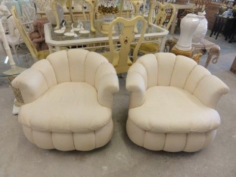 Glammy Pouf Swivel Chairs | Wish List | Home Decor, Home, Chair Intended For Gallin Wingback Chairs (View 20 of 20)