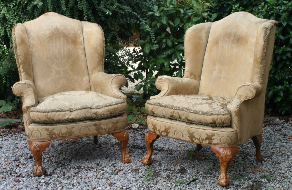 Good Walnut Queen Anne Style 3 Piece Suite, Circa 1910 Pertaining To Reynolds Armchairs (View 10 of 20)