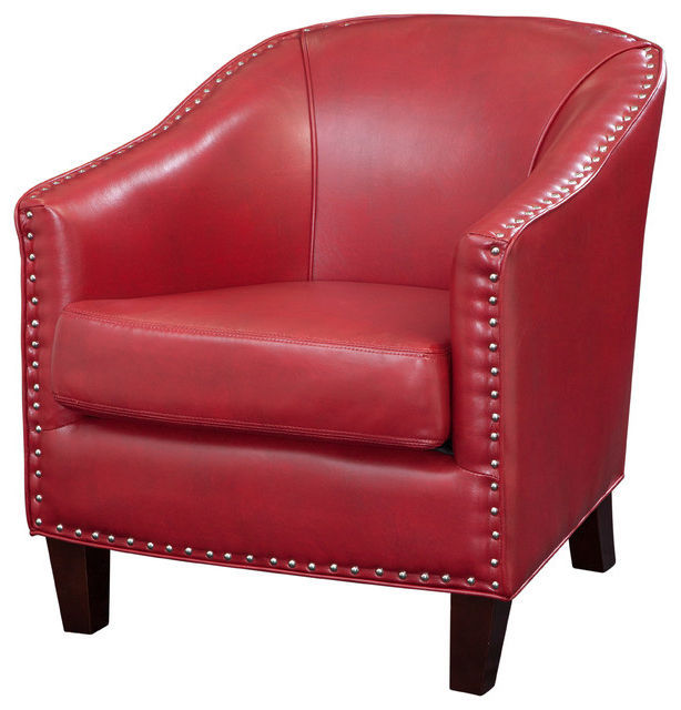 Featured Photo of Faux Leather Barrel Chairs