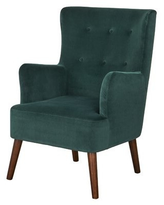 Green Leather Ottoman – Up To 20% Off At Shopstyle Canada Intended For Gallin Wingback Chairs (View 8 of 20)